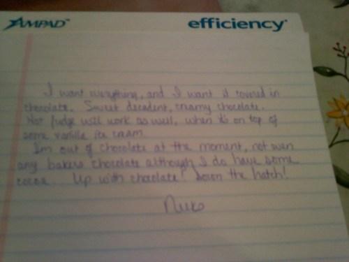 Day 1 – Slant in Handwriting